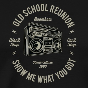 Boombox Music According to Christmas Gift Retro - Men's Premium T-Shirt