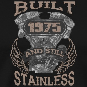 Built and even stainless biker born 1975 - Männer Premium T-Shirt