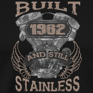 Built and even stainless biker born 1962 - Men's Premium T-Shirt