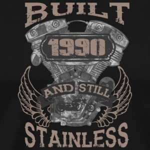 Built and even stainless biker born 1990 - Männer Premium T-Shirt