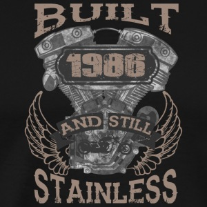 Built and even stainless biker born 1986 - Men's Premium T-Shirt