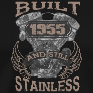 Built and even stainless biker born 1955 - Männer Premium T-Shirt