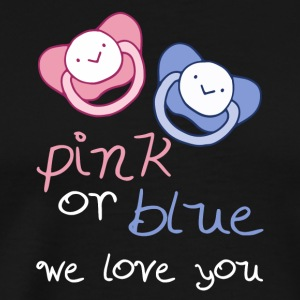 Pink Or Blue We Love You - Männer Premium T-Shirt