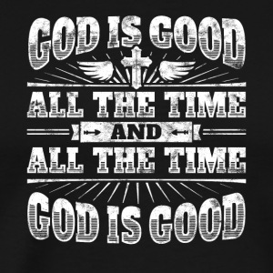 Cool Christelijke zeggen: God Is Good - Mannen Premium T-shirt
