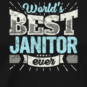 TOP verzorger: Worlds Best Ever Janitor - Mannen Premium T-shirt