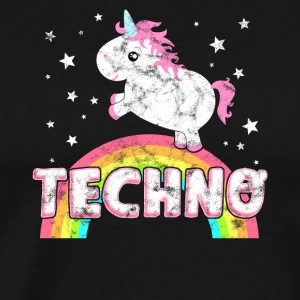 Cool Ironic Techno Music Unicorn - Men's Premium T-Shirt