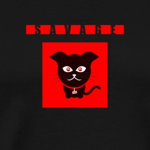 Savage wild Cat - Männer Premium T-Shirt