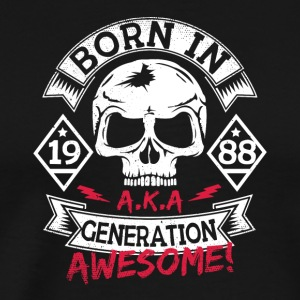7 born in 88 - Männer Premium T-Shirt