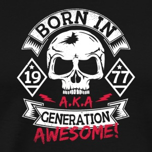 3 born in 77 - Männer Premium T-Shirt
