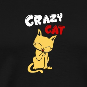 CAT | CRAZY CAT - Men's Premium T-Shirt