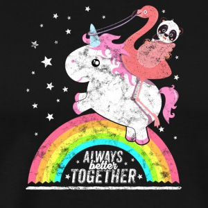 Unicorn Flamingo Panda friends team club shirt - Men's Premium T-Shirt