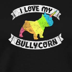 Bullycorn Frenchie Bully French Bulldog Bullicorn - Men's Premium T-Shirt