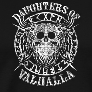 Daughters Odin's Viking Walhalla Skulls - Men's Premium T-Shirt