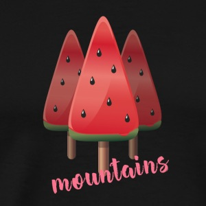 Melon watermelon on stalk ice mountain illustration - Men's Premium T-Shirt