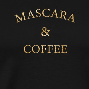 Mascara and coffee beautician cosmetics gift - Men's Premium T-Shirt