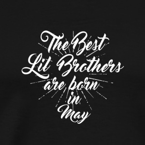 The best little brothers were born in February - Men's Premium T-Shirt