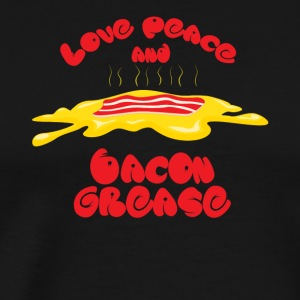 Love, Peace and Bacon grease - Männer Premium T-Shirt