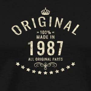 Vintage used Original Retro Made in 1987 Bday gift - Männer Premium T-Shirt