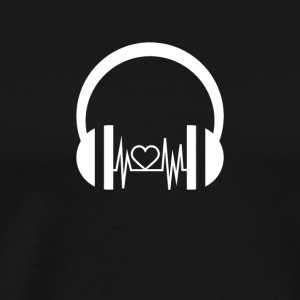 T shirt Music gift Sound Dj heart - Men's Premium T-Shirt