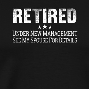 Retired Tee Shirt Retirement Pension Gift - Men's Premium T-Shirt