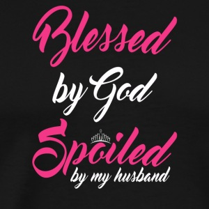 Blessed Gift Pampered Love Partner Happiness - Men's Premium T-Shirt