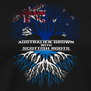 Australia Scotland gift Roots flag heritage - Men's Premium T-Shirt