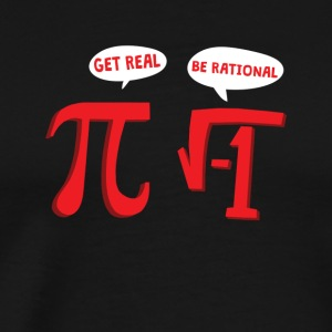 Math lahja Rational Pi School Teacher Plus numero - Miesten premium t-paita