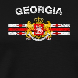Georgische Vlag Shirt - Georgische Badges & Georgia Fl - Mannen Premium T-shirt