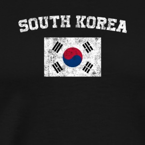 South Korea Flag Shirt - Vintage South Korea T-Shi - Men's Premium T-Shirt