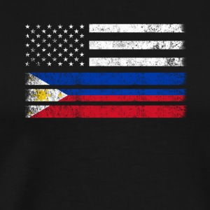 Filipino American Flag - USA Philippines Shirt - Men's Premium T-Shirt