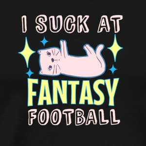 Fantasy Football shirt Gift Suck trend Cat - Mannen Premium T-shirt