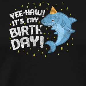 Birthday Party Monster Shark Fish - Premium-T-shirt herr