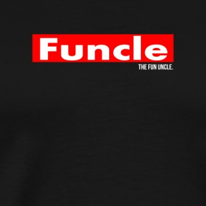 Funny Mens Uncle Funcle definitie Grappige Oom - Mannen Premium T-shirt
