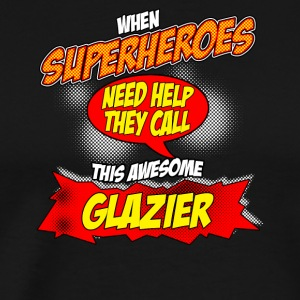 Superhero gift funny profession Glazier Glaser - Men's Premium T-Shirt