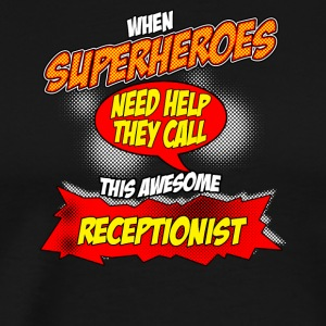 Superhero gift funny occupation receptionist - Men's Premium T-Shirt