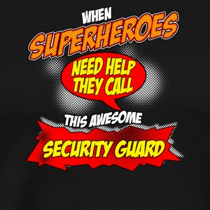 Superhero gift funny profession Wachmann - Men's Premium T-Shirt
