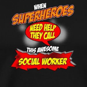 Super hero gift funny occupation social worker - Men's Premium T-Shirt
