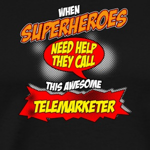 Super hero gift funny profession phone seller - Men's Premium T-Shirt