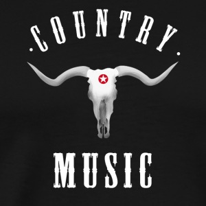 country music longhorn western ranch cowboy usa fu - Men's Premium T-Shirt