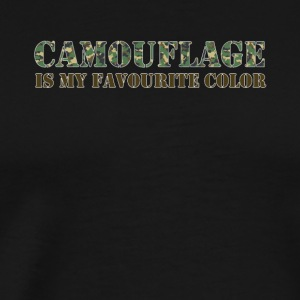 Kamouflage Favorite Color Army Army - Premium-T-shirt herr