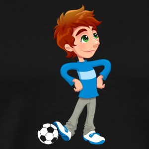 Soccer boy playing soccer footballer gift - Men's Premium T-Shirt