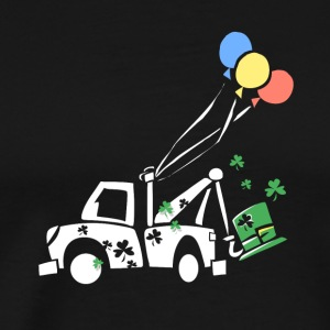 Kids St Patricks Day Truck and Balloon - Men's Premium T-Shirt