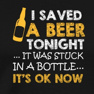 I saved a Beer - Men's Premium T-Shirt