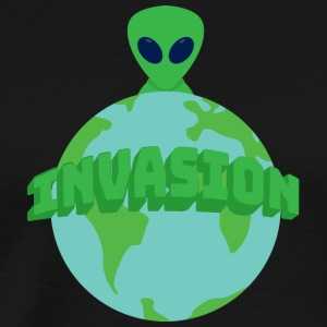 Alien / Area 51: Invasjon av Aliens - Globe - Premium T-skjorte for menn