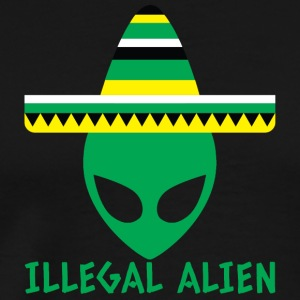 Alien / Area 51 / UFO: Illegal Alien with Sombrero - Men's Premium T-Shirt