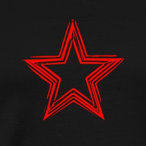 Star Red Shirt - Men's Premium T-Shirt