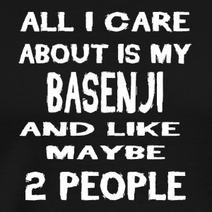 All i care about is my BASENJI - Men's Premium T-Shirt