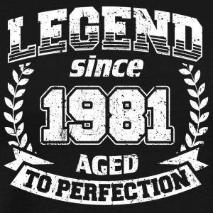 LEGEND VINTAGE depuis 1981 Mûr à point - T-shirt Premium Homme