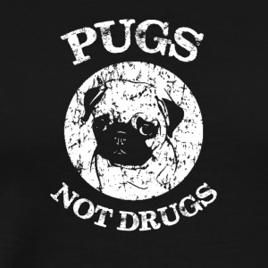 Pugs, not Drugs - Men's Premium T-Shirt