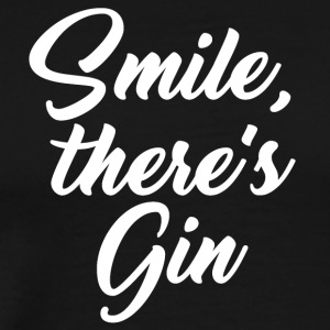 Smile there's gin - Männer Premium T-Shirt
